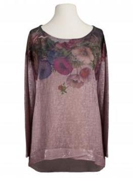 Shirt Blütenprint, rosa von Diana