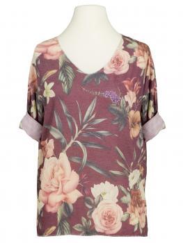 Shirt mit Blumenmuster, beere
