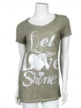 Shirt mit Print, khaki