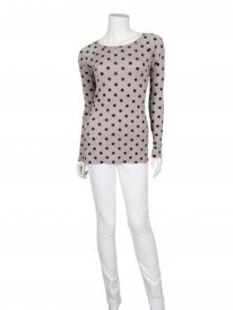 Shirt mit Punkten, beige (Bild 2)