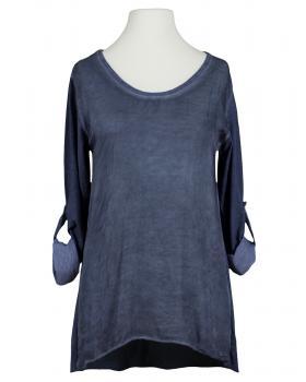 Shirt mit Seide, blau