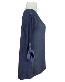 Shirt mit Seide, blau (Bild 2)