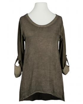 Shirt mit Seide, braun von Spaziodonna