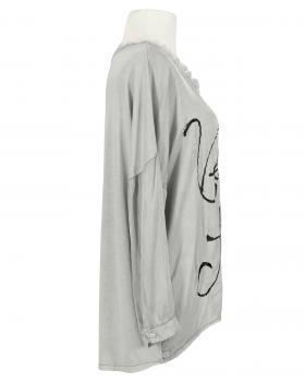 Blusenshirt mit Seide, grau (Bild 2)