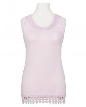 Shirt mit Spitze, rosa