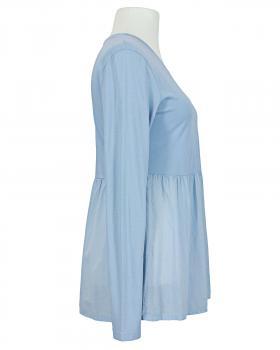 Shirt mit Volant, hellblau (Bild 2)