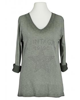 Shirt Print langarm, khaki von Andromede Paris (Bild 1)