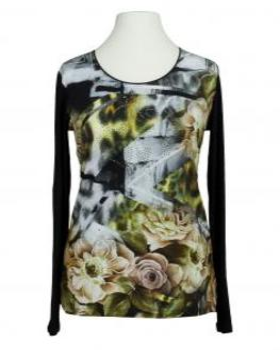 Shirt Rosenprint, schwarz (Bild 1)