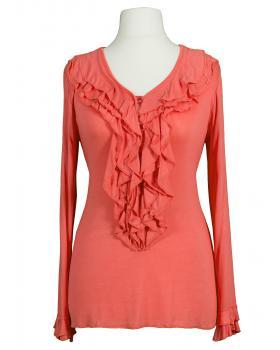 Shirt Rüschen, koralle
