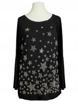 Shirt Sterne, schwarz
