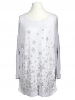 Shirt Sterne, weiss von To Shine