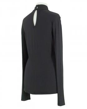 Shirt Wickeloptik, schwarz (Bild 2)