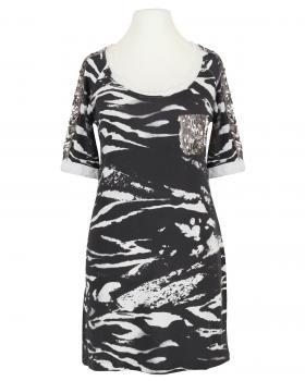 Shirt Zebra Look, schwarz von Farfalla