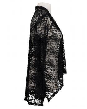 Damen Spitzen Cardigan, schwarz