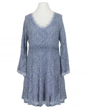 Spitzenkleid mit Baumwolle, blau von Spaziodonna
