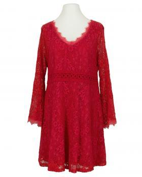 Spitzenkleid mit Baumwolle, rot von Spaziodonna