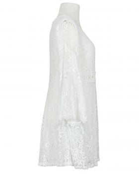 Spitzenkleid mit Baumwollle, weiss (Bild 2)