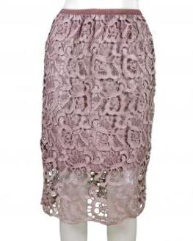 Spitzenrock mit Seide, rosa von Diana (Bild 1)