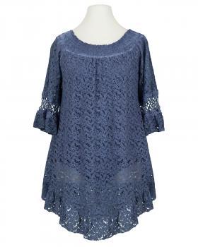 Spitzentunika Baumwollle, blau von Diana von Diana