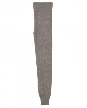 Strick Leggings mit Cashmere, hellbraun von Made in Italy