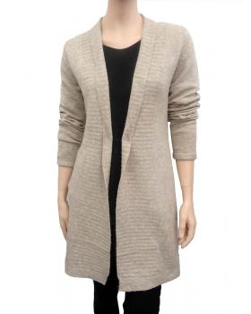 Strick Long Cardigan, sand