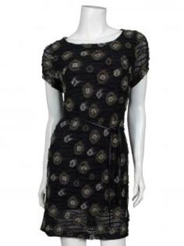 Strick Tunika Kleid, schwarz schlamm