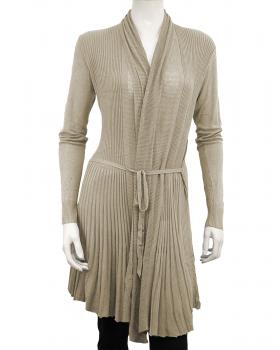 Strickjacke A-Form, beige