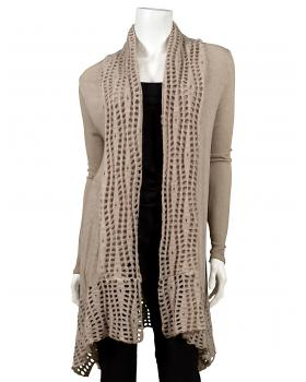 Strickjacke Cut Out, beige