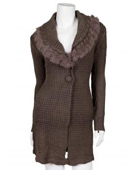 Strickjacke, braun