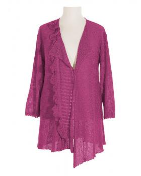 Damen Strickjacke, magenta