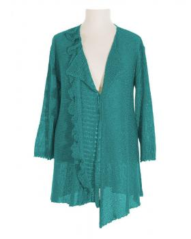 Strickjacke, petrol