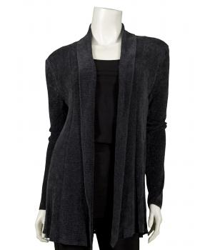 Damen Strickjacke aus Chinille, anthrazit