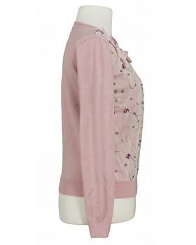 Strickjacke Blütenstickerei, rosa (Bild 2)
