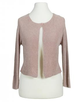 Strickjacke Chinille, rosa