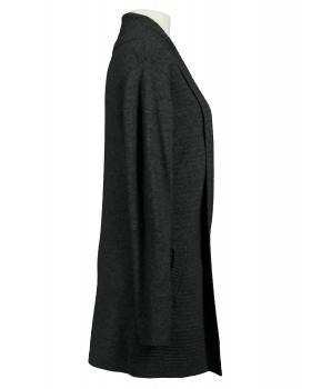 Damen Strickjacke mit Gürtel, anthrazit