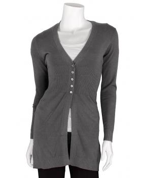 Strickjacke mit Kaschmir, grau von fashion made in italy von fashion made in italy
