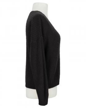 Strickjacke mit Mohair, schwarz (Bild 2)