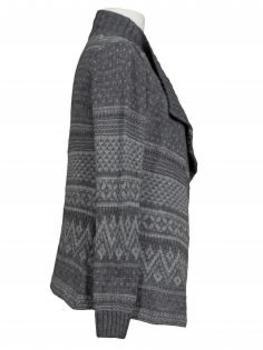 Strickjacke mit Muster, grau (Bild 2)