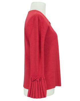 Strickjacke mit Plisseearm, rot (Bild 2)