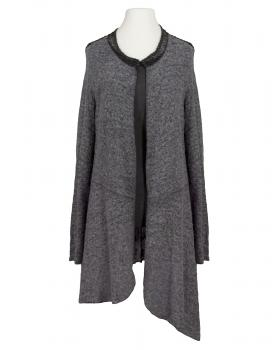 Strickjacke und Long Top, grau