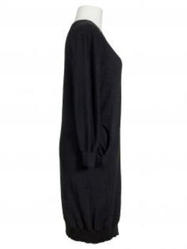 Strickkleid Ballonform, schwarz