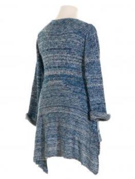 Stricktunika Pullover, blau (Bild 2)