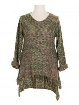 Stricktunika Pullover, grün von Amandine (Bild 1)