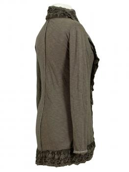 Sweat Cardigan, schlamm