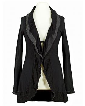 Sweat Cardigan, schwarz von Easy Fashion (Bild 1)