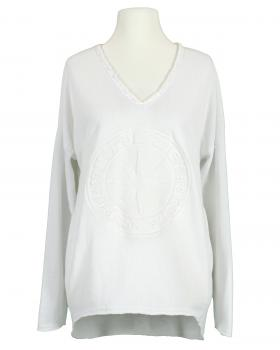 Sweat Shirt mit Prägung, weiss von Monday Afternoon