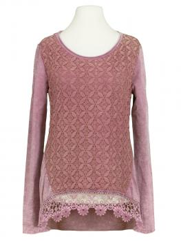 Sweat Shirt Spitze, rosa