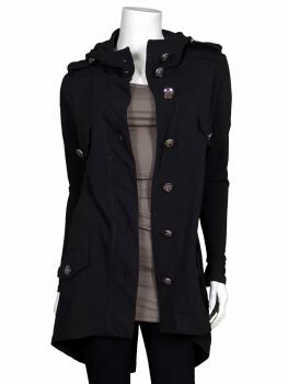 Sweatjacke Kapuze, schwarz von ever new fashion von ever new fashion