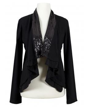 Cardigan Bolero Stil, schwarz