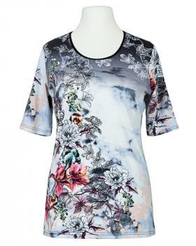 T-Shirt Blumenprint, bunt von Da Capo